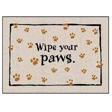 Buy Wipe Your Paws Door Wipe Your Paws Doormat U2013 I Heart Dog Online Store For Dogs Australia