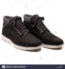 timberland chukka leather black men u0027s shoes a146q stock photo