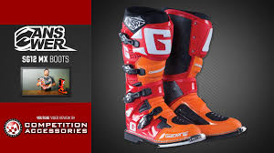 red dirt bike boots answer sg12 mx boot 2015 review youtube