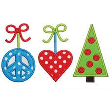 christmas applique applique only peace christmas applique