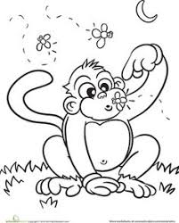 cute baby monkey coloring pages schoolwork grade 1