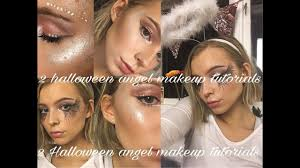 2 angel halloween makeup looks fallen angel u0026 light angel youtube