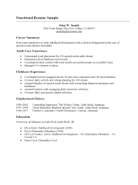 Childcare Resume Templates Resume Template Samples Of Functional Resumes Housekeeper Sample