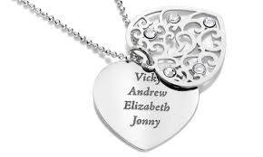 Engravable Heart Necklace Jewellshouse 83 Off Groupon