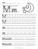 tracing letter n worksheet
