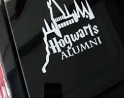 hogwarts alumni bumper sticker ravenclaw alumni etsy