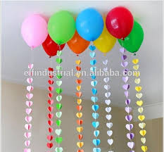 colorful craft paper 3d shape flower garland for