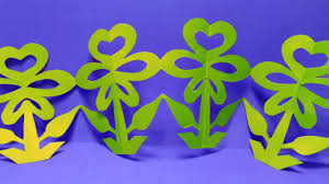 Home Decoration With Paper How To Make Paper Tree Chain Paper Flower Tree Home Decoration