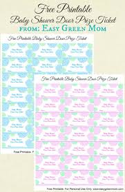 free printable baby shower door prize tickets for boy or