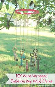 diy wire wrapped skeleton key wind chime busy being jennifer