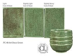 pc 48 art deco green pc potter u0027s choice