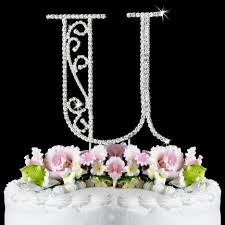 cake topper letters u wf monogram wedding cake toppers