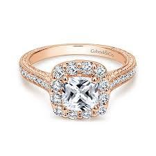zelda 14k rose gold cushion cut halo engagement ring er7500k44jj