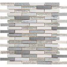 home depot backsplash tile msi ocean crest brick 12 in x 12 in x 8 mm glass metal stone