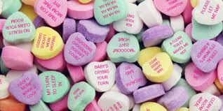 valentines heart candy sayings heart messages valentinesday