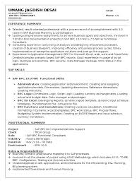 sample resume professional summary sap bpc sample resume 3 cisco certifications business process