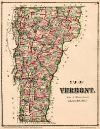Vermont County Map State Maps Vermont Historical Society