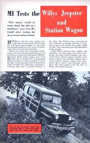 willys jeepster mi tests the willys jeepster and station wagon modern mechanix