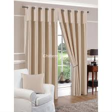 Eyelet Curtains 90 X 72 Derwent Faux Silk Fully Lined Ivory Eyelet Curtains