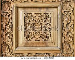 traditional wood carving uzbekistan stock photo 537321277