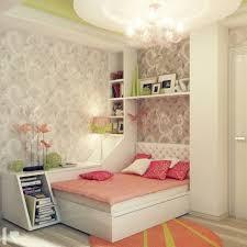 Elevated Platform Bed Teens Bedroom Designs Plain Teal Wall Paint Simple White Wooden