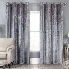 curtain curtains velvet elegance allure silver crushed luxury