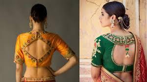 open blouse stylish back open blouse design ideas back open blouses