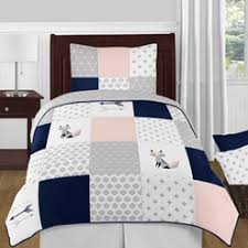 Navy Blue And Gray Bedding Childrens Bedding Sets For Boys And Girls
