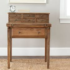 Small Oak Desk With Hutch Amh6520c Desks Furniture By Safavieh