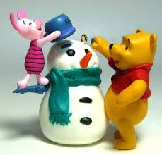 winnie the pooh and piglet a snowman ornament hallmark