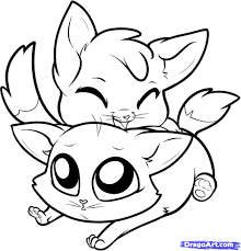 free coloring pages cute pinterest chibi and cat drawing