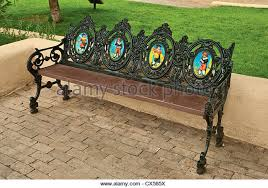 Wrought Iron Bench Wood Slats Wrought Iron Bench Seat Australia For Sale Antique Garden With