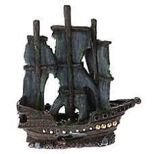 top fin pirate ship aquarium ornament fish ornaments