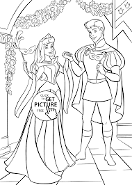 sleeping beauty ball coloring pages for kids printable free