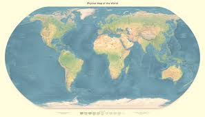 Map Of The World Countries Detailed Physical Map Of The World Detailed Physical World Map