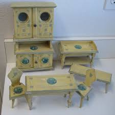 Kitchen Dollhouse Furniture by Antique German Kitchen Gottschalk Dollhouse Miniature Blue Delft