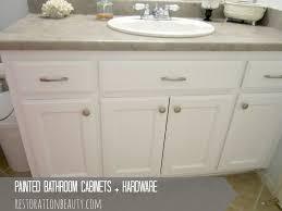 how to repaint bathroom cabinets bathroom cabinet painted bathroom cabinets and hardware bathroom