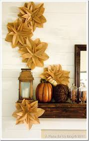 giving thanks has never looked so paper bag flowers brown