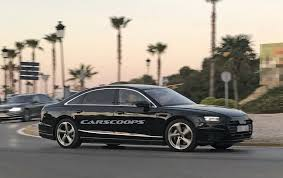 2018 audi a8 spotted almost free of camo ahead of july premiere