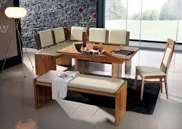 Kitchen L Shaped Dining Table Excellent Modern Bench Style Dining Table Set Ideas Homesfeed