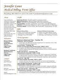 medical billing resume template medical billing resume examples