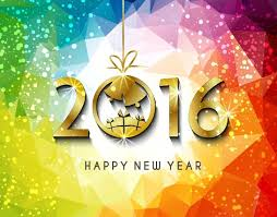 happy new year backdrop 2016 happy new year background vector illustration free vector