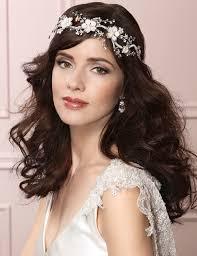 bridal garland garland headband with pearl and rhinestone flower 6460