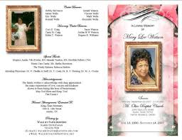 make your own funeral program funeral programs