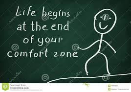 Life Begins Outside Of Your Comfort Zone Life Begins At The End Of Your Comfort Zone Stock Illustration