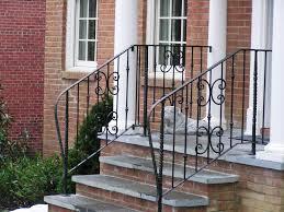 outdoor wrought iron stair railing design bending outdoor