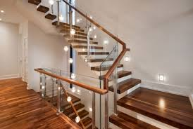 modern wood stairs with glass risers architecture woden modern
