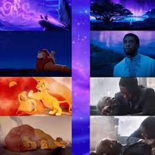 Lion King Meme Blank - did you notice the many similarities between black panther and the