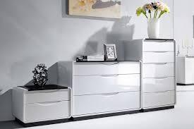 Bedroom Sideboard White Gloss Furniture Unique U0026 Modern Designs