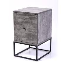 grey metal bedside table zola bedside table with drawer timber or metal frame iron slate